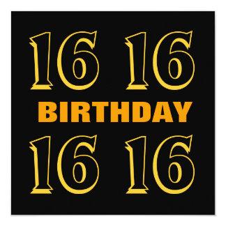 décimosexto Oro moderno del cumpleaños adolescente Invitación 13,3 Cm X 13,3cm