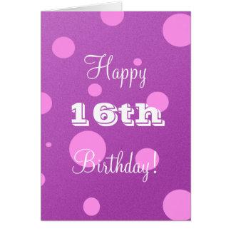 Décimosexto tarjeta de cumpleaños feliz para el