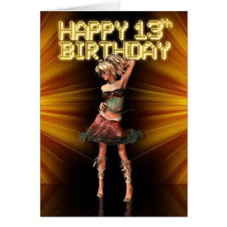 Décimotercero adolescente feliz del cumpleaños felicitacion