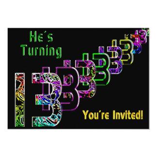 décimotercero cumpleaños - invitación adolescente