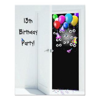 décimotercero Fiesta de cumpleaños de la sorpresa Invitación 10,8 X 13,9 Cm