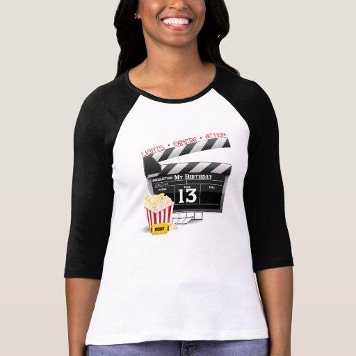 décimotercero Fiesta de la película del cumpleaños Camisetas