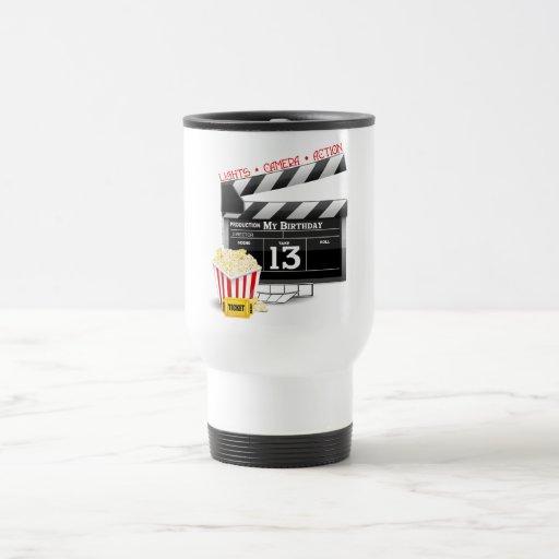 décimotercero Fiesta de la película del cumpleaños Taza De Café