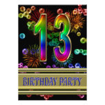décimotercero Invitación de la fiesta de cumpleaño