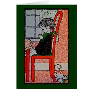Decir rezos tarjeta de felicitación