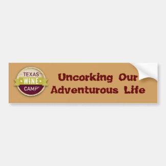 Declaración aventurera del parachoque de la vida pegatina para coche