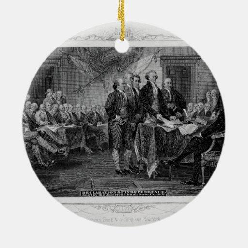 Declaración de Independencia grabada Juan Trumbull Ornamentos Para Reyes Magos