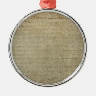 Declaración de Independencia original Ornaments Para Arbol De Navidad