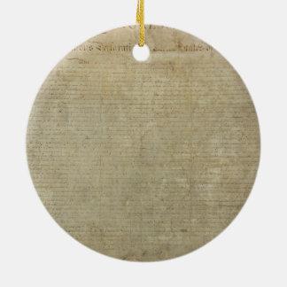Declaración de Independencia original Ornamento Para Arbol De Navidad