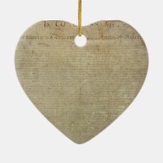 Declaración de Independencia original Ornamento Para Reyes Magos
