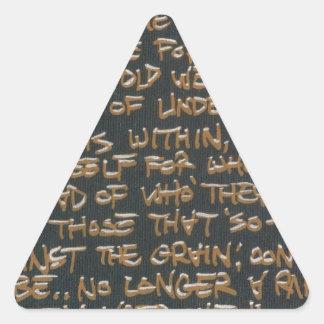 Declaración de misión de AgedOut Pegatina Triangular