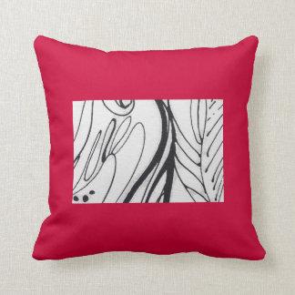 Decoración almohada roja/de la negro/blanca