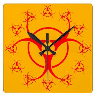 decoración amonestadora del regalo del Bio-Peligro Reloj Cuadrado
