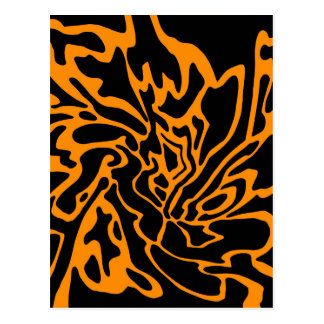 Decoración anaranjada y negra postal