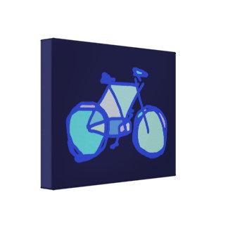 decoración azul de la pared de la bicicleta impresiones de lienzo