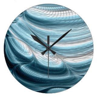 Decoración azul de la pared del reloj del arte