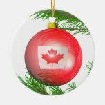 Decoración canadiense del árbol de navidad ornamento para arbol de navidad