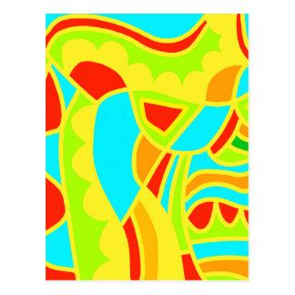 Decoración colorida postal