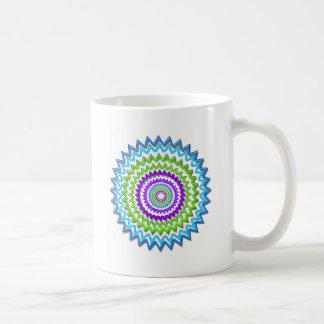 Decoración curativa de la chispa de neón redonda taza de café