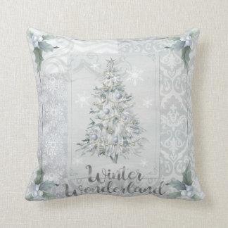 Decoración de la almohada del navidad de la plata