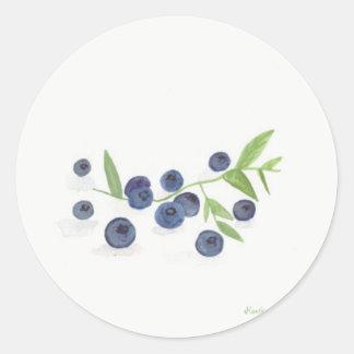 Decoración de la cocina de la fruta de los pegatina redonda
