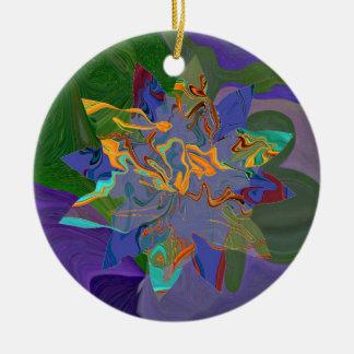 decoración de la estrella del navidad del hippie adorno redondo de cerámica