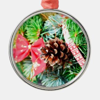 Decoración de la guirnalda del navidad adorno navideño redondo de metal