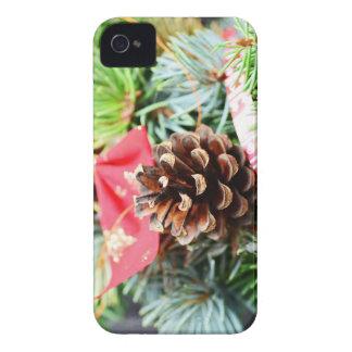 Decoración de la guirnalda del navidad carcasa para iPhone 4 de Case-Mate