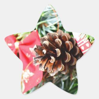 Decoración de la guirnalda del navidad pegatina en forma de estrella