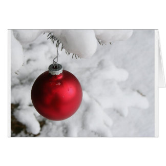 Decoración de la nieve del navidad tarjeta