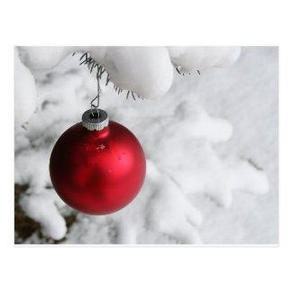 Decoración de la nieve del navidad tarjetas postales