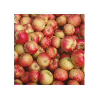 Decoración de la pared de las manzanas de la caída cuadro de madera