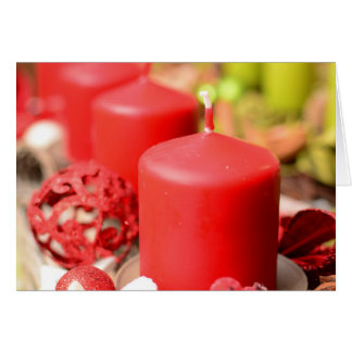 Decoración de la vela del navidad tarjeta de felicitación