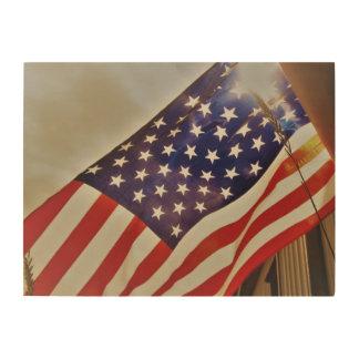 Decoración de madera de bandera americana