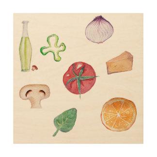 Decoración de madera de las frutas y de los cuadro de madera