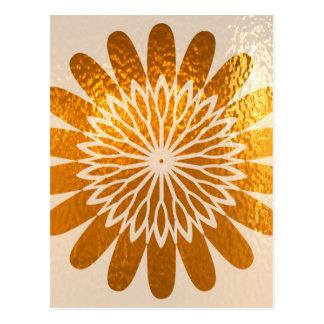 Decoración de oro del ARTE del girasol Postal