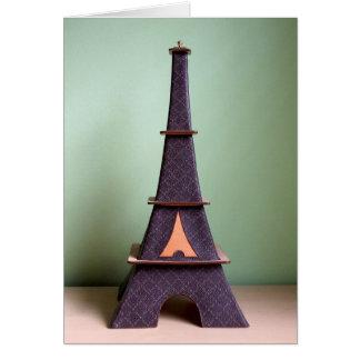 Decoración decorativa en la forma de la torre Eiff Tarjetas