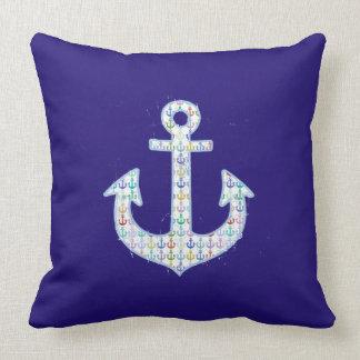decoración del ancla de la marina de guerra almohada