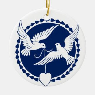 Decoración del árbol de navidad de la paloma