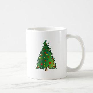 Decoración del árbol de navidad taza básica blanca
