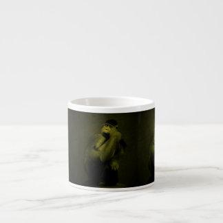 Decoración del arte del gorila tazas espresso