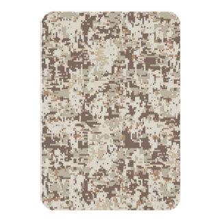 Decoración del beige del camuflaje de Digitaces Invitación 8,9 X 12,7 Cm