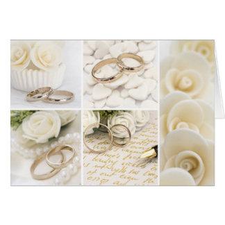 decoración del boda tarjeta de felicitación