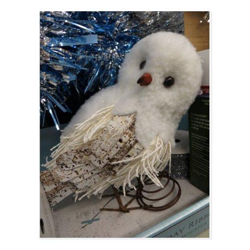 Decoración del búho de la nieve, 1 postales