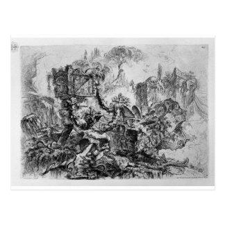 Decoración del capricho, un grupo de ruinas postal