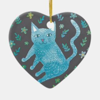 Decoración del corazón del gato