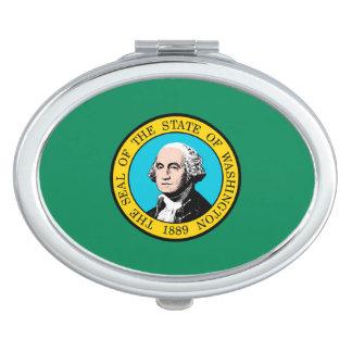 Decoración del diseño de la bandera del estado de espejo compacto