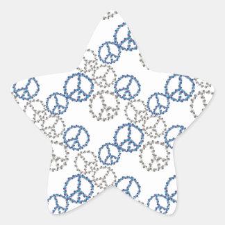 Decoración del Hippie Pegatina En Forma De Estrella