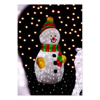 Decoración del muñeco de nieve tarjetas de visita grandes