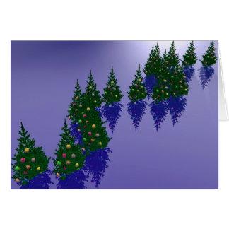 Decoración del navidad tarjetón